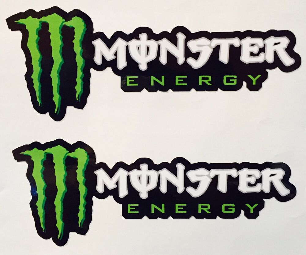 2x monster energy sticker decal sponsor 9 5 auto motor. Black Bedroom Furniture Sets. Home Design Ideas