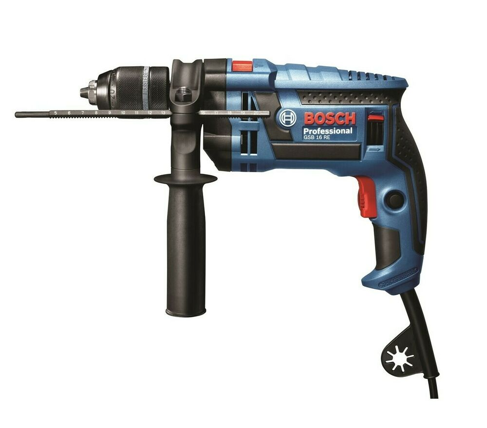 bosch blue professional corded impact drill 700w 13mm gsb16re klc auto lock ebay. Black Bedroom Furniture Sets. Home Design Ideas