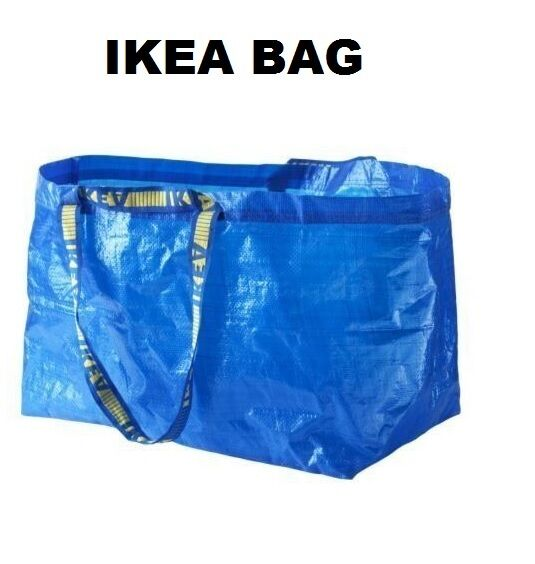 ikea frakta large blue laundry bag idealfor shooping laundry storage ebay. Black Bedroom Furniture Sets. Home Design Ideas