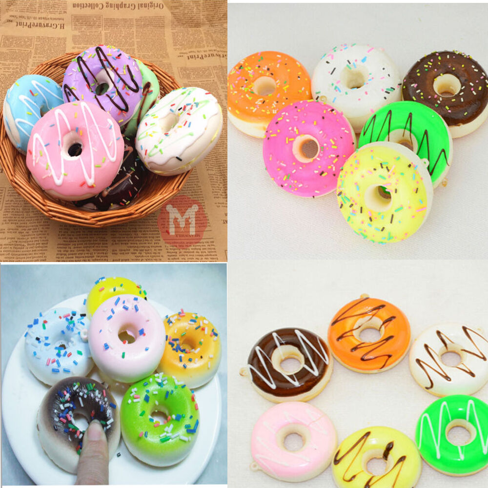 1pcs Cute Donut Soft Squishy Colorful Cell Phone Straps Charms Handbag Key Chain eBay