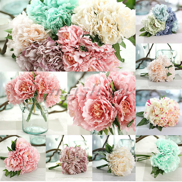 Http Www Ebay Com Itm 1 Bouquet 5pcs Wedding Artificial Hydrangea Flower Home Party Floral Decor Diy 252533350512