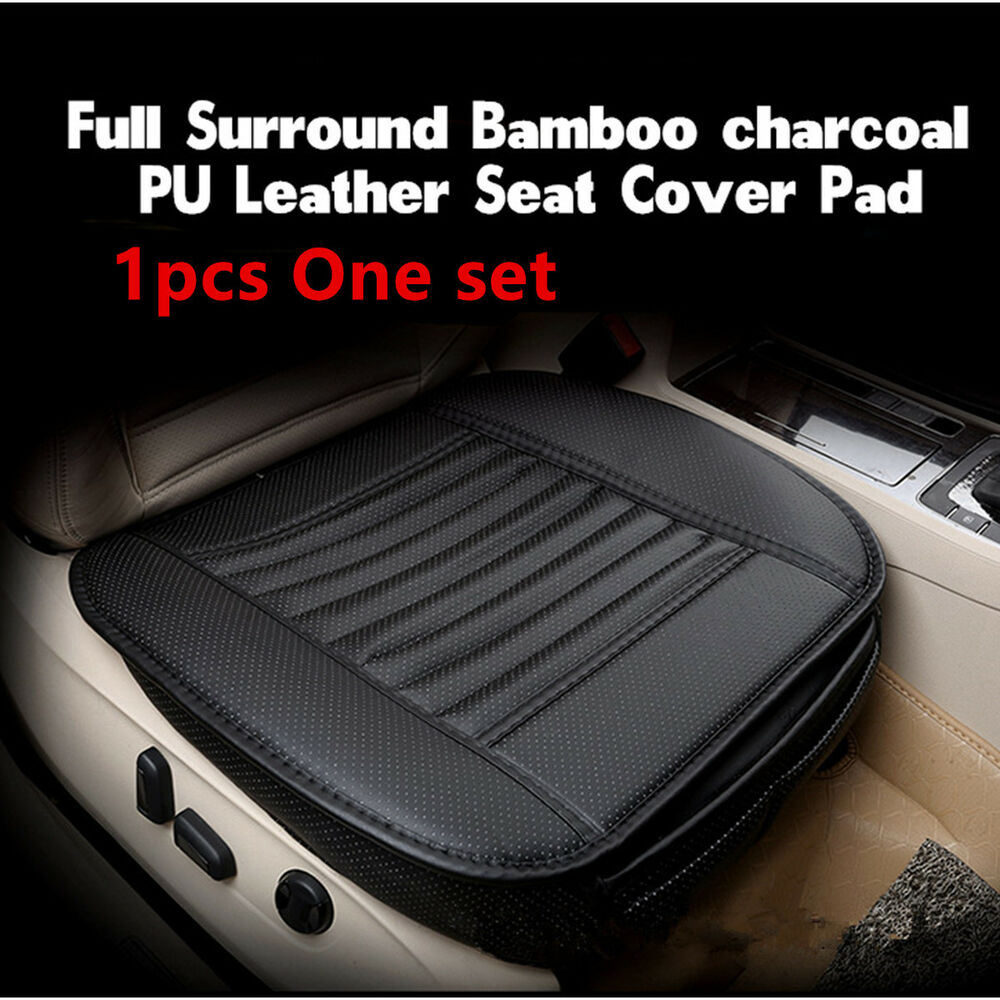full surround pu leather car seat pad soft cushion protect cover bamboo charcoal ebay. Black Bedroom Furniture Sets. Home Design Ideas