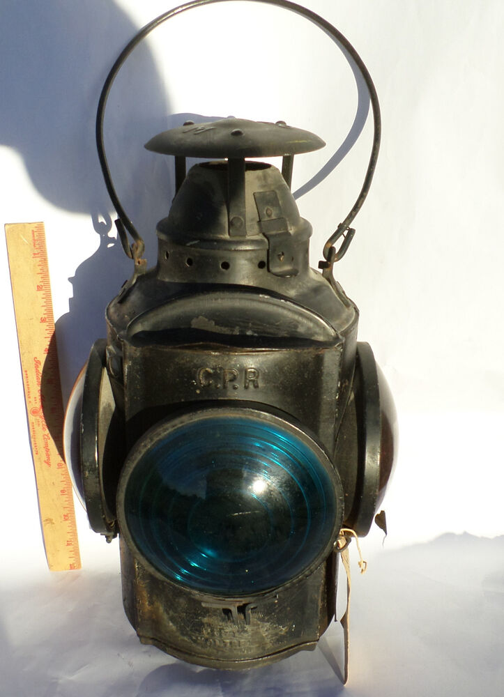 Vintage Railroad Light Collectible Old Signal Marker