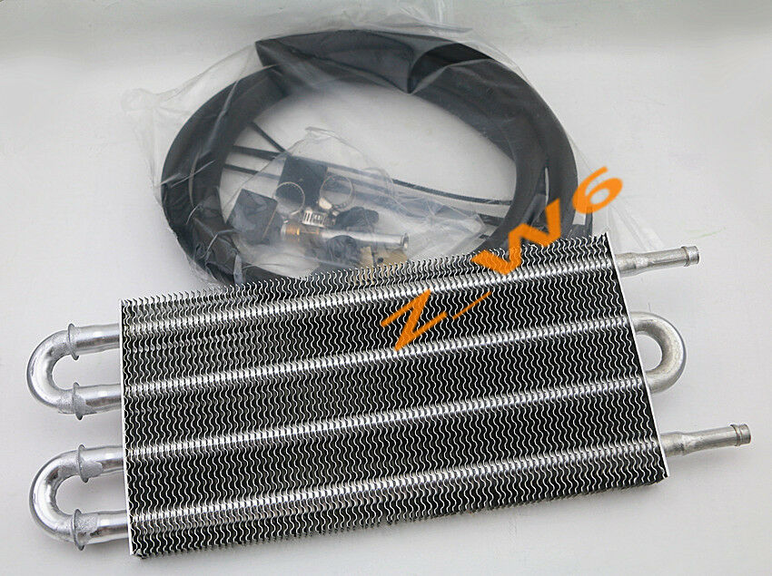 Auto Mobile Engine Oil Cooler : Universal car truck trans aluminum engine transmission