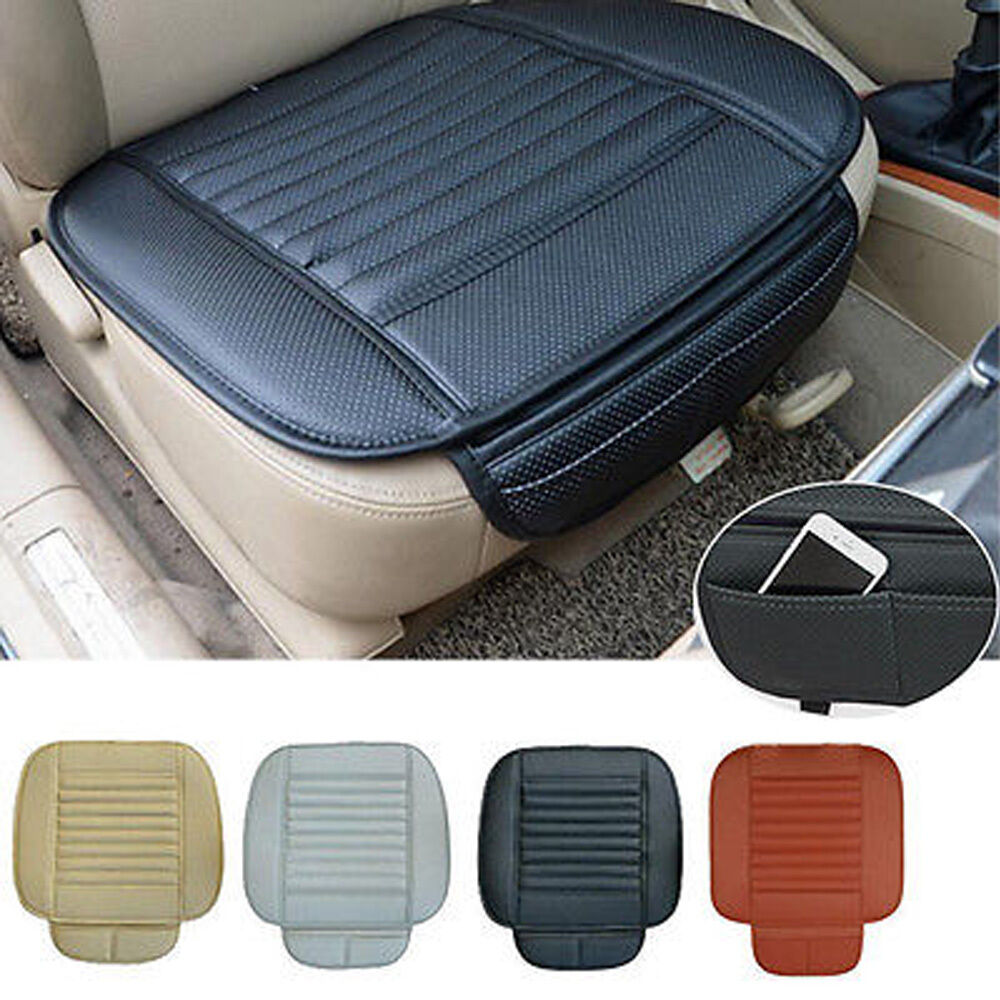 car front seats pu leather cover bamboo slip bucket seat protector cushion mat ebay. Black Bedroom Furniture Sets. Home Design Ideas