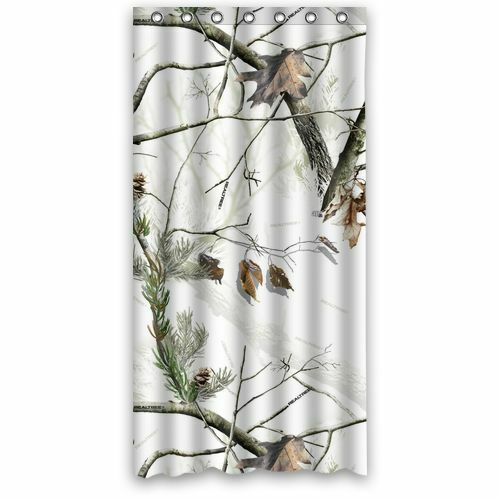 camouflage realtree camo polyester waterproof bath shower curtain 36 x 72 inch ebay. Black Bedroom Furniture Sets. Home Design Ideas
