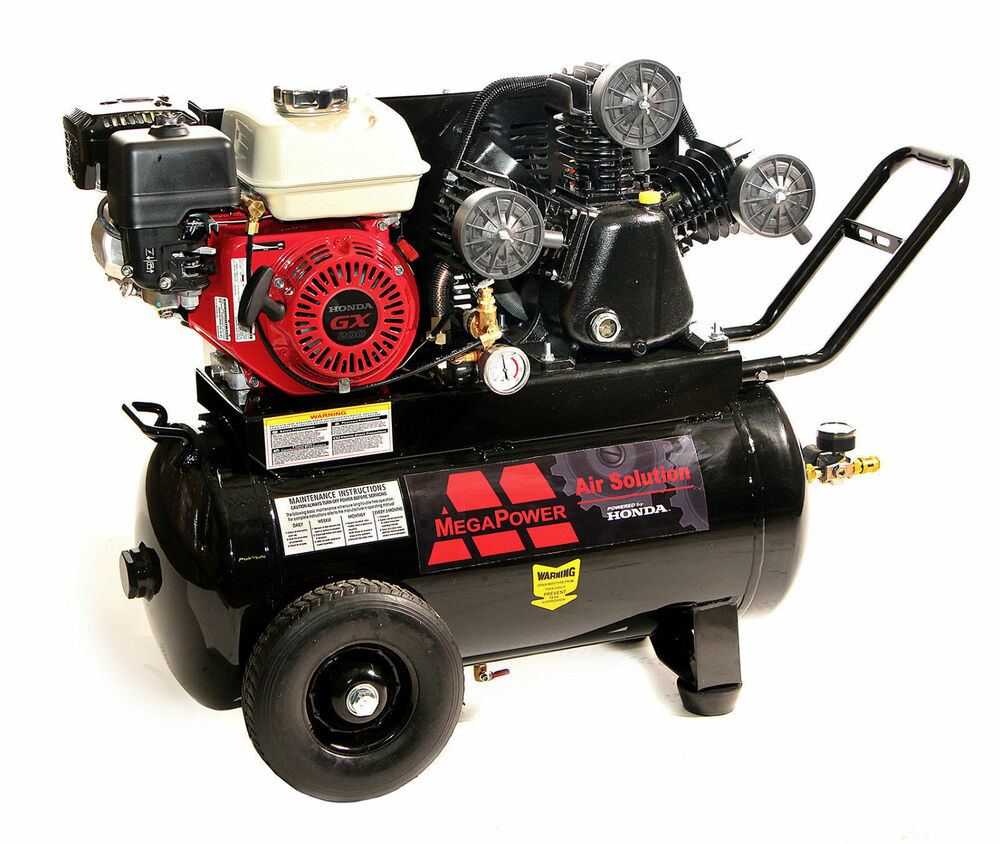 New 6 5 hp honda engine portable air compressor 20 for Air compressor gas motor
