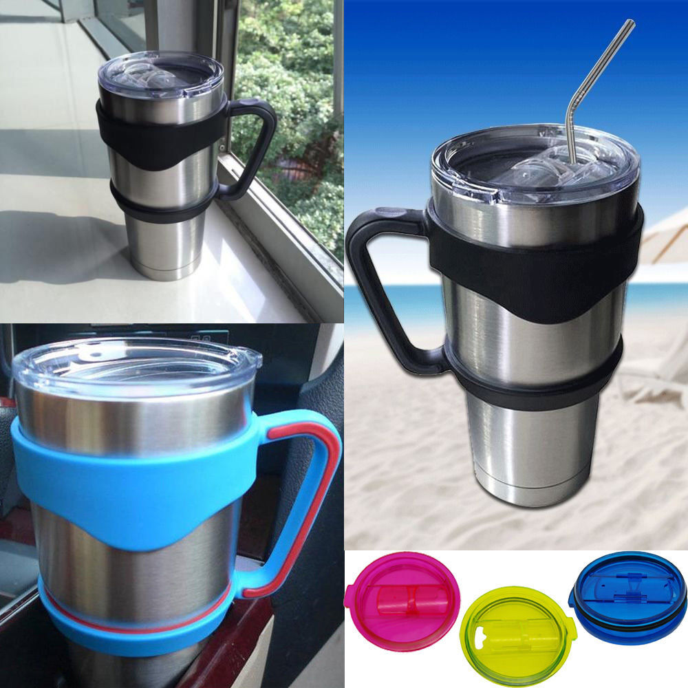 Handle Lid Stainless Steel Straw For Yeti For Rambler 20