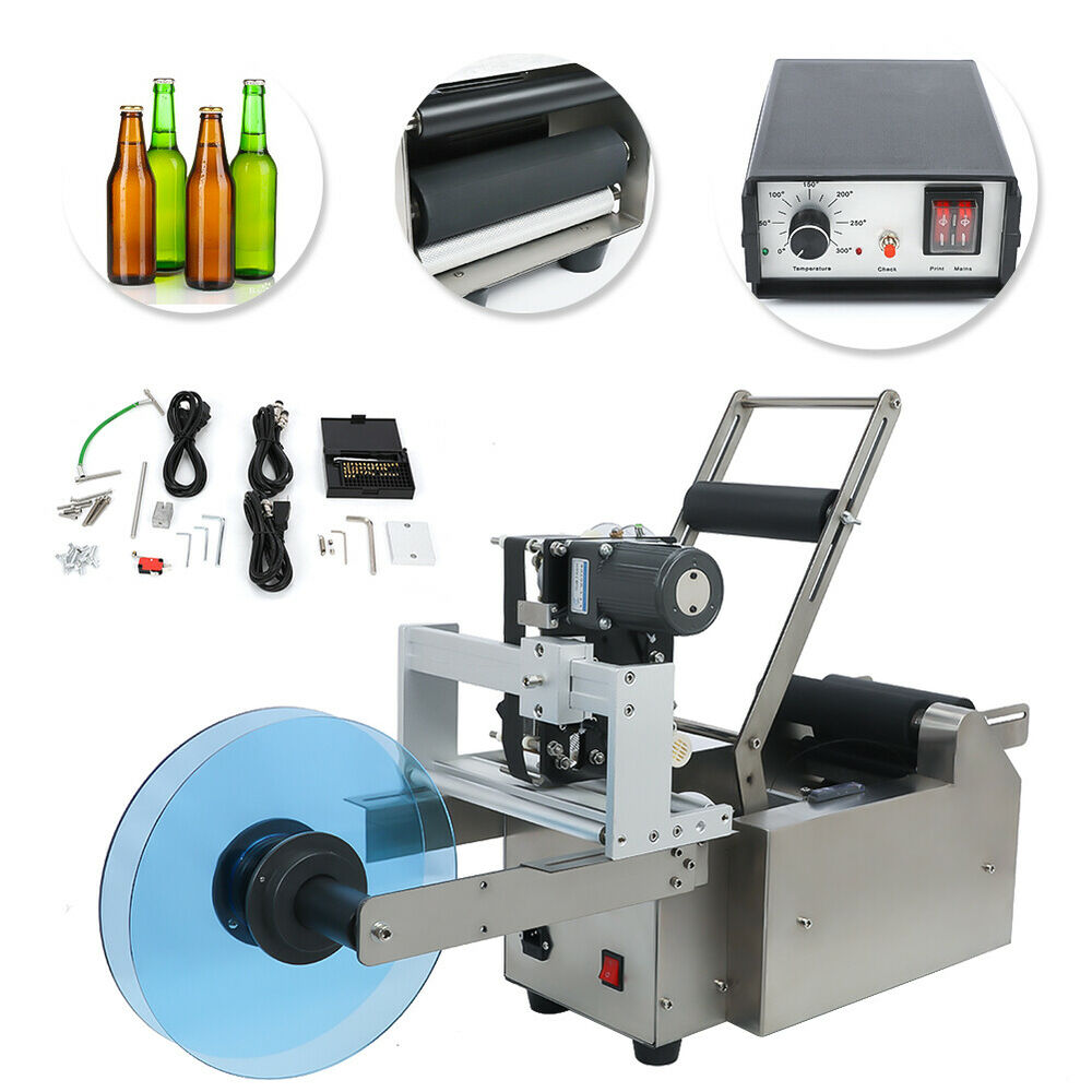 Automatic Round Bottle Labeling Machine With Date Code