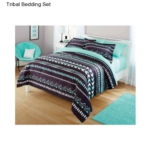 new girl 39 s teen kid 39 s tribal full size comforter set bedding bedspread shams nwt ebay. Black Bedroom Furniture Sets. Home Design Ideas