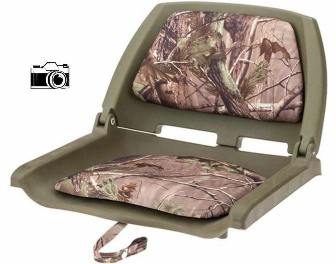 Fold Down Padded Boat Seats In Realtree Camo Duck Hunting