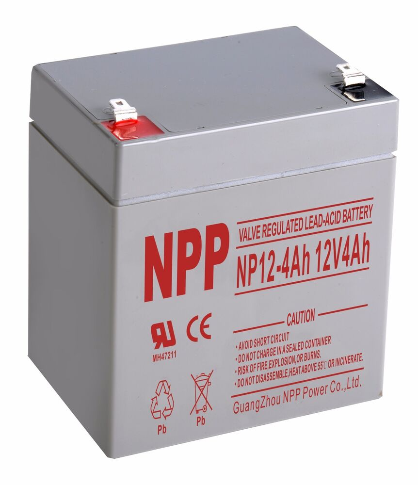 npp 12v 4 amp 12 volt 4ah ups backup agm sealed lead acid. Black Bedroom Furniture Sets. Home Design Ideas