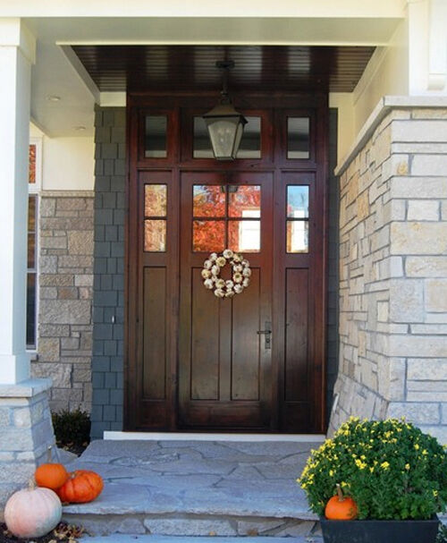 Craftsman Entry Door With Sidelites And Transom EBay