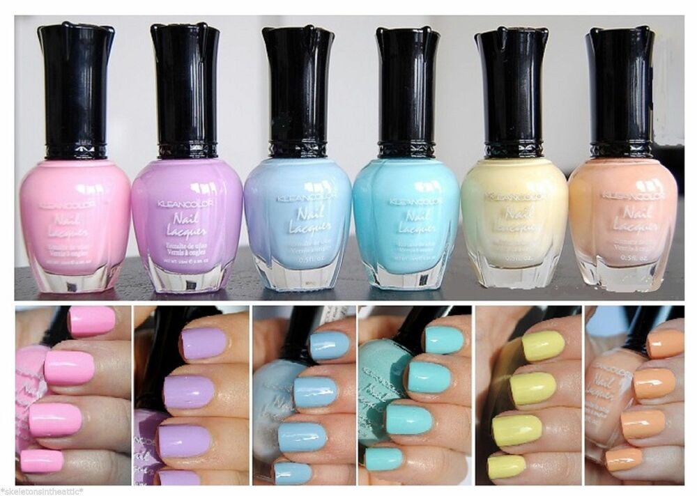 Kleancolor Nail Polish PASTEL Colors Lot of 6 - Lacquer ...