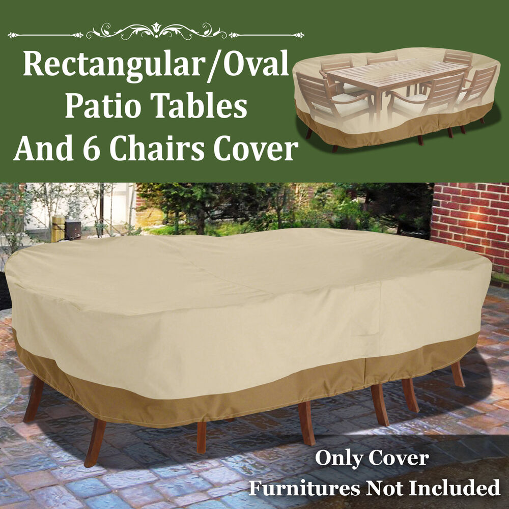 Patio Garden Rectangular Oval Table Chair Cover Outdoor Furniture Winter 110&