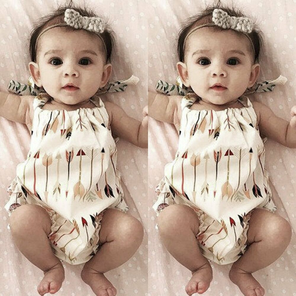 Baby Girl: Newborn Toddler Infant Baby Girl Romper Jumpsuit Bodysuit