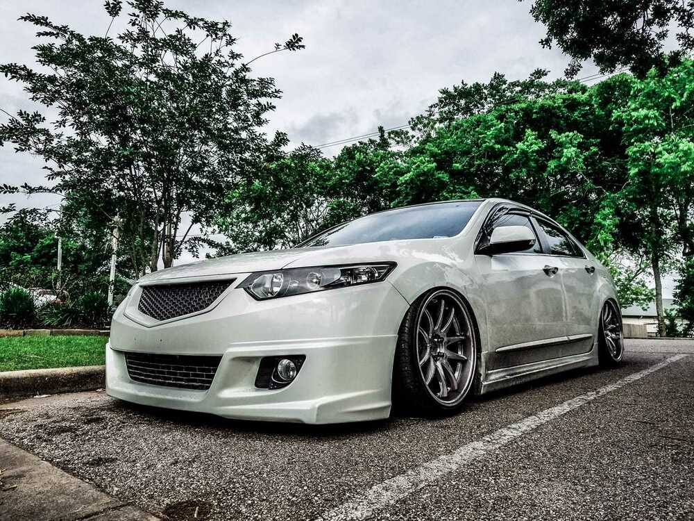 new design front grill sport with abs mesh honda accord 8 cu acura tsx 2008 2010 ebay. Black Bedroom Furniture Sets. Home Design Ideas