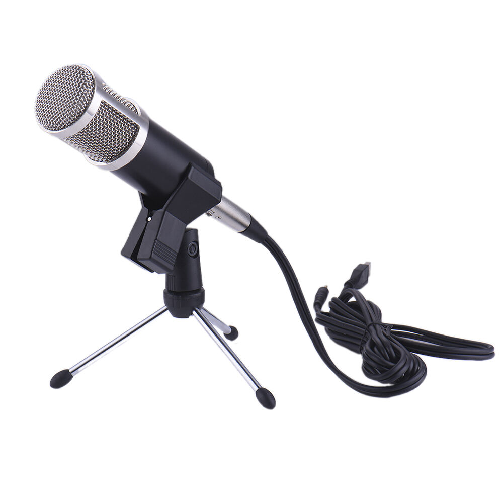 dynamic microphone usb microphone mic for karaoke pc computer recording studio ebay. Black Bedroom Furniture Sets. Home Design Ideas