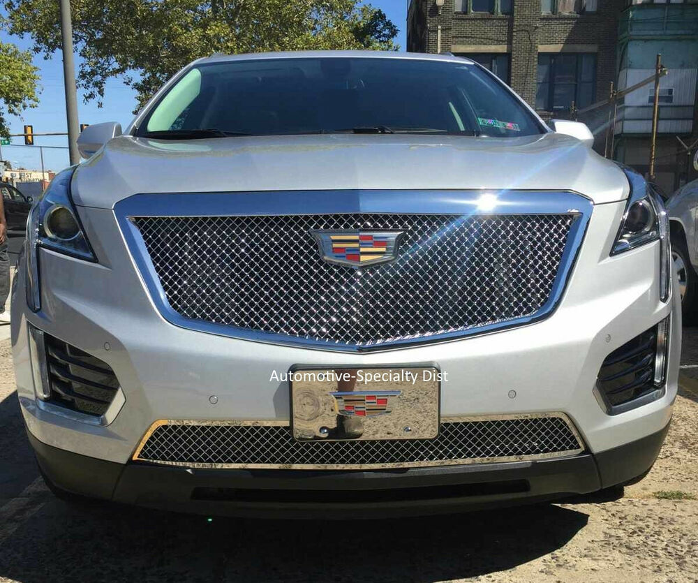 2PC CLASSIC HEAVY MESH GRILLE GRILL E&G FITS 2017 2018
