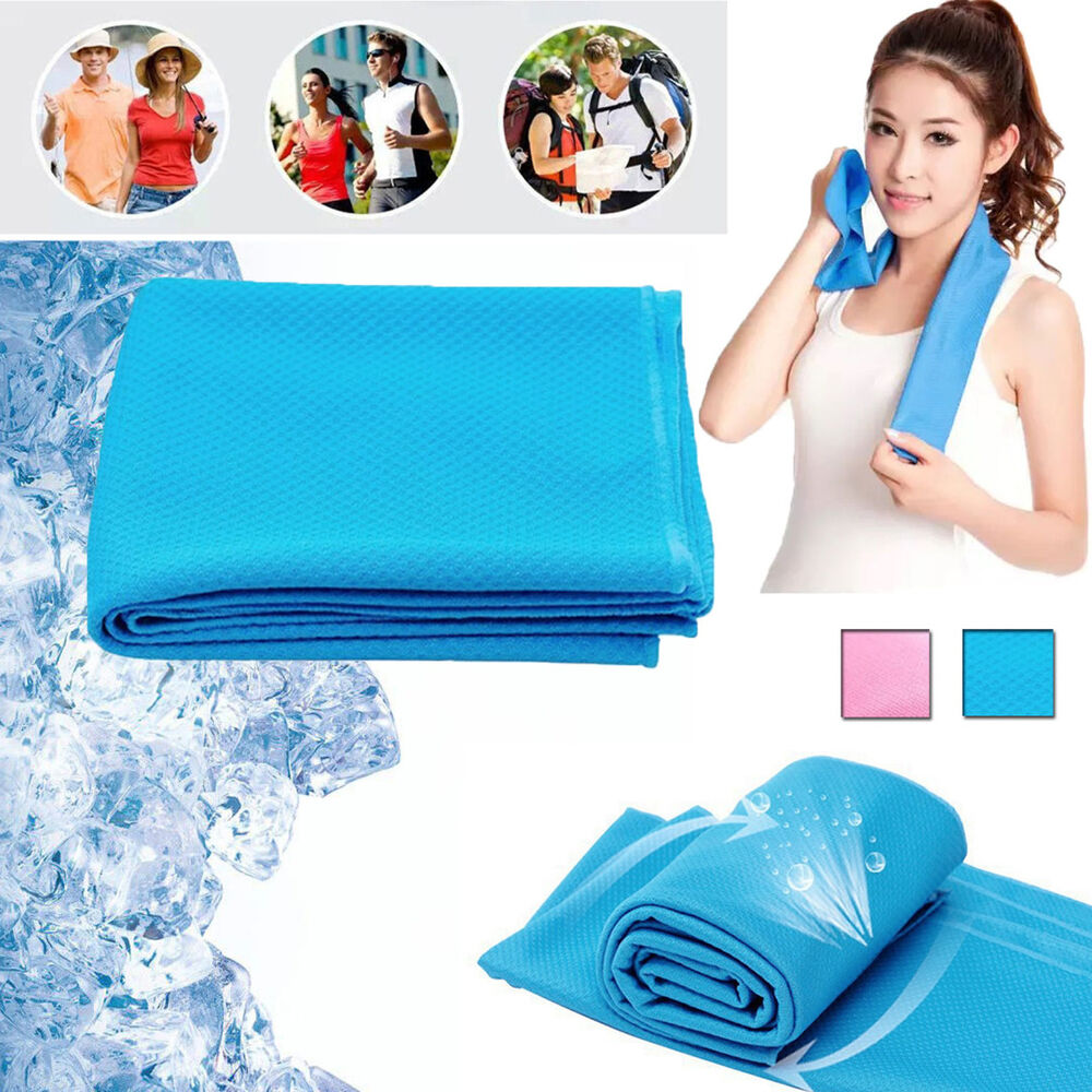 Sweat Towels Sign: Cooling Towel Men Women Outdoor Gym Novel Sports Exercise