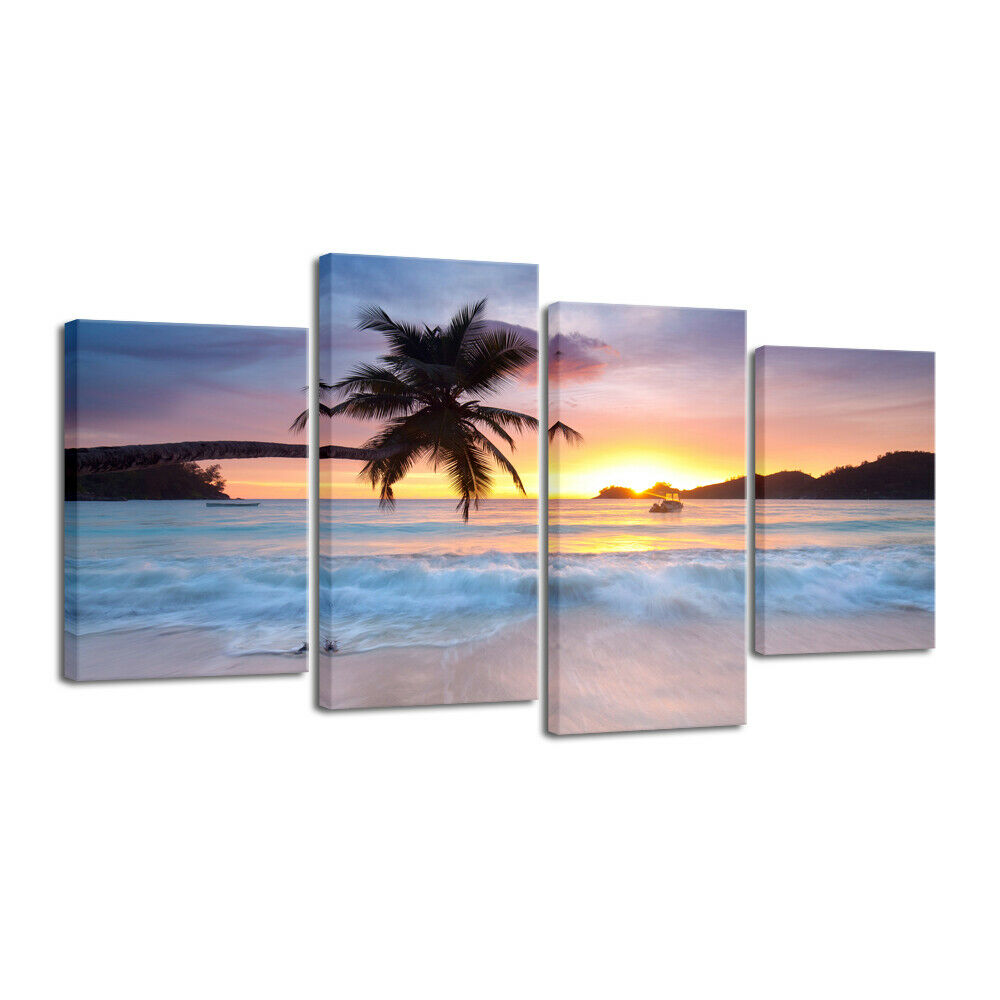 modern canvas print painting picture home decor landscape sea wall art framed ebay. Black Bedroom Furniture Sets. Home Design Ideas