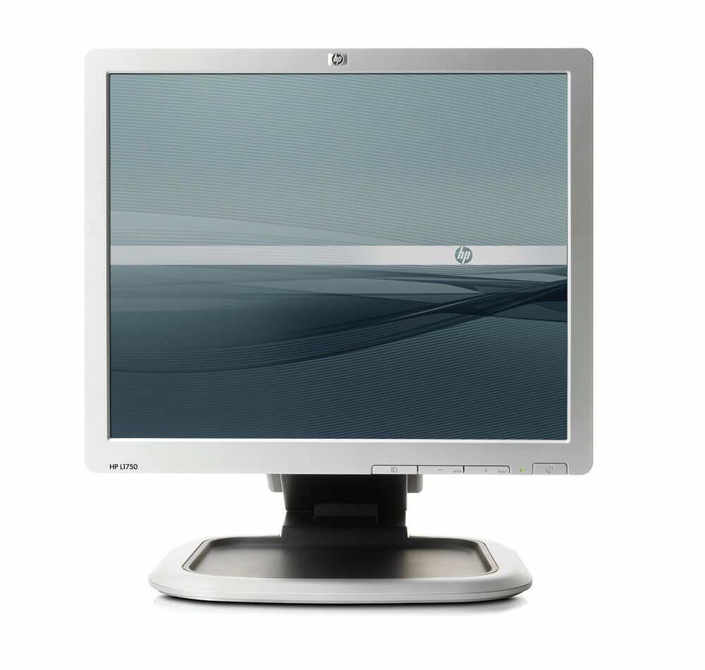 17 flat lcd tft monitor vga pc computer 4 3 display lg hp. Black Bedroom Furniture Sets. Home Design Ideas
