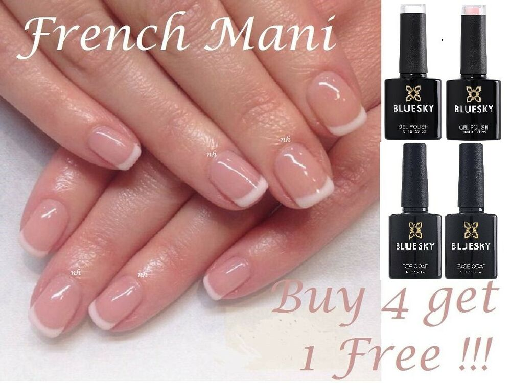 Bluesky Gel French Manicure Cream Puff Negligee French White Pink ...