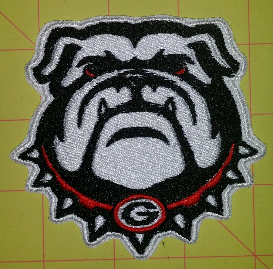 Biker Vest Patches >> Georgia Bulldogs motorcycle biker embroidered vest patch iron on New | eBay