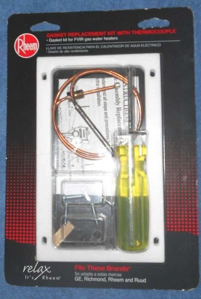 Rheem Rh20064 Gasket Replacement Kit W Thermocouple For