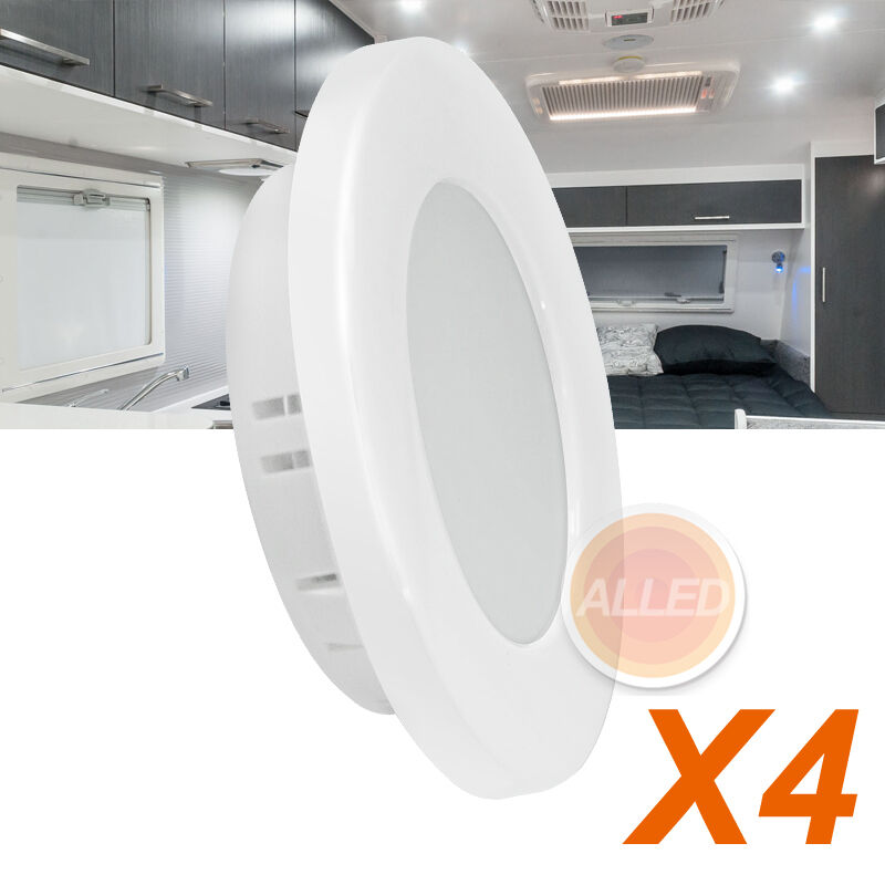 4x12v 70mm Led Recessed Cabinet Down Light Rv Caravan Camper Trailer Dome Lamp Ebay