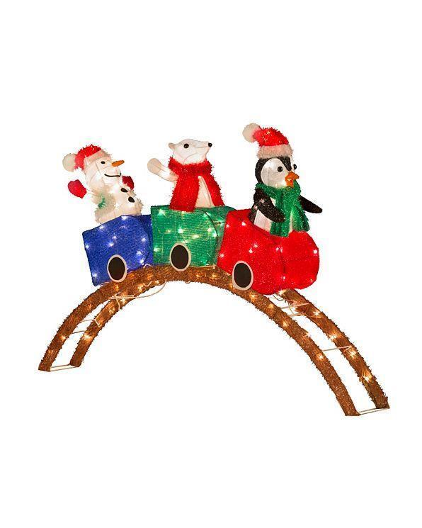 95 Amazing Outdoor Christmas Decorations: SALE Lighted PreLit Carnival Roller Coaster Display