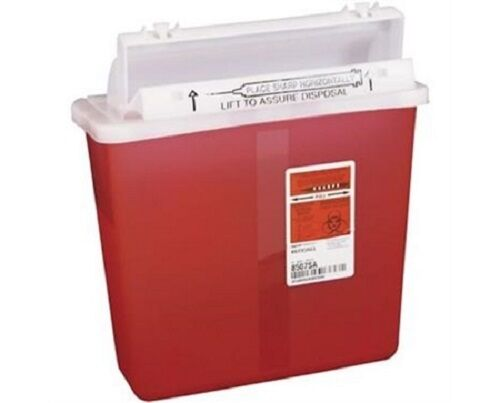 Covidien Biohazard Sharps Containers 5QT Clear Lot of 10 ...