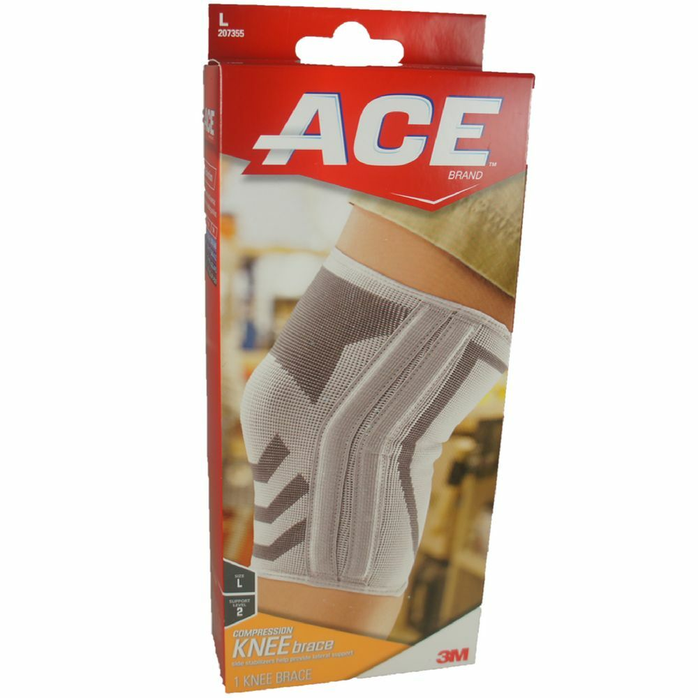 Ace Compression Knee Brace With Side Stabilizers Large 1