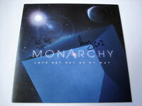 """MONARCHY - LOVE GET OUT OF MY WAY - SIGNED 7"""" VINYL"""