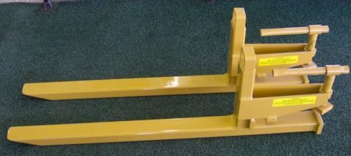 Tractor Bucket Forks : Pallet forks clamp on for tractor bucket loaders ebay
