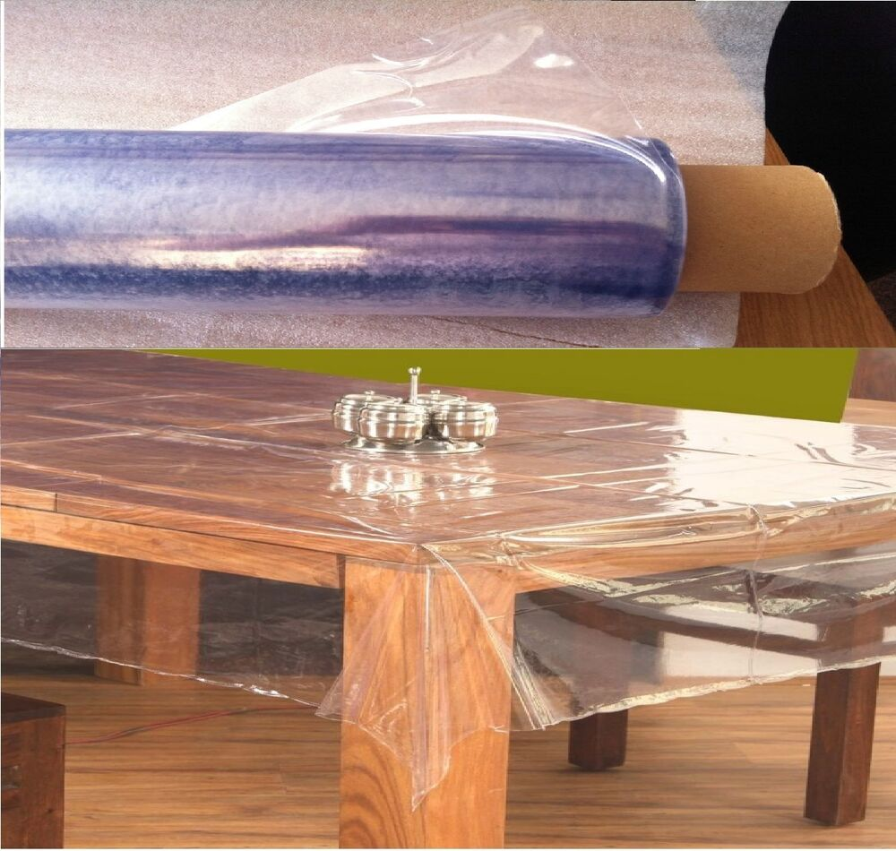 Strong Clear Plastic Table Cloth Cover Wipeable Pvc