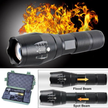 img-5000LM Tactical Zoomable XML T6 LED Military Flashlight Torch Light Lamp UK G700