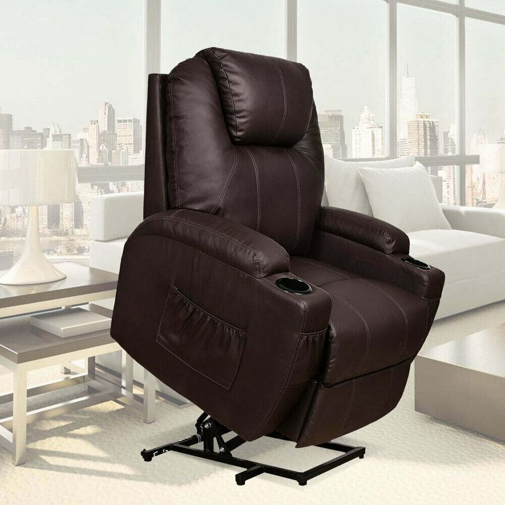 electric power lift chair recliner heated massage sofa loung