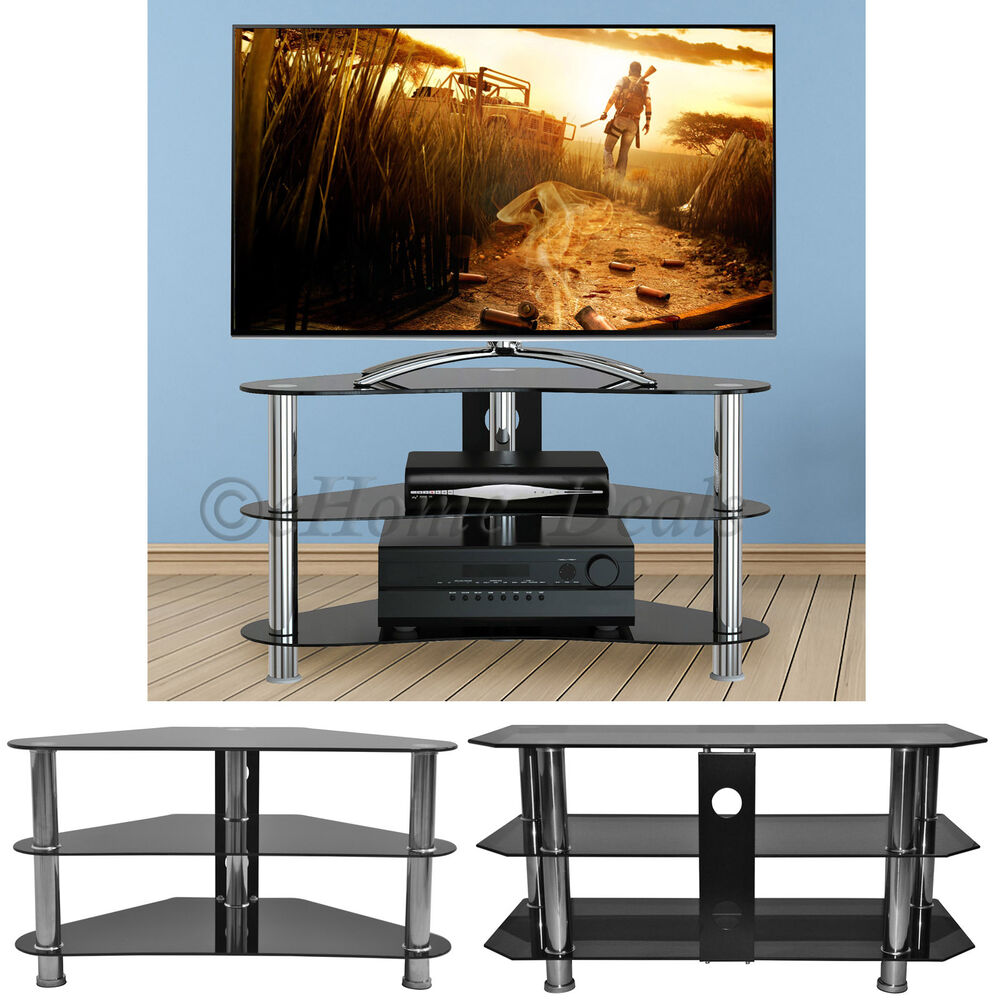 90 & 100cm Tempered Glass TV Stand For 14 To 60 Inch