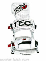 NEW IN BOX Technine TEAM PRO DYLAN THOMPSON Snowboard Bindings WHITE MEDIUM RARE
