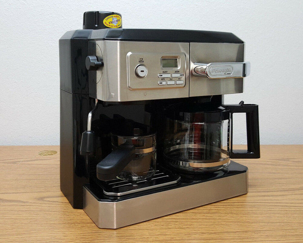 Espresso Drip Coffee Maker Combo : Delonghi BCO330T Combination Drip Coffee Espresso Latte and Cappuccino Maker 44387003308 eBay