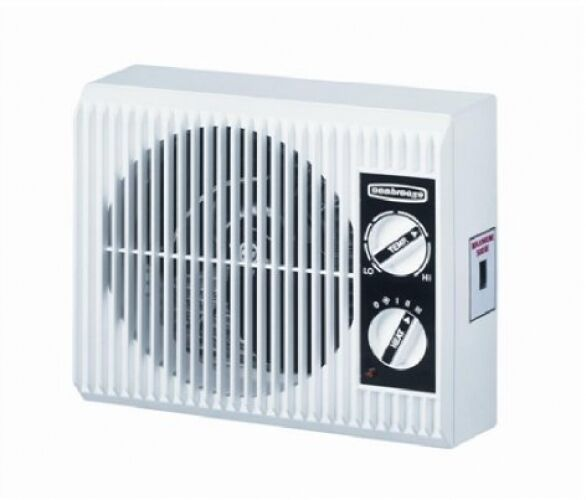 electric space heater fan outlet wall mount bathroom bedroom space saver 1500w ebay. Black Bedroom Furniture Sets. Home Design Ideas
