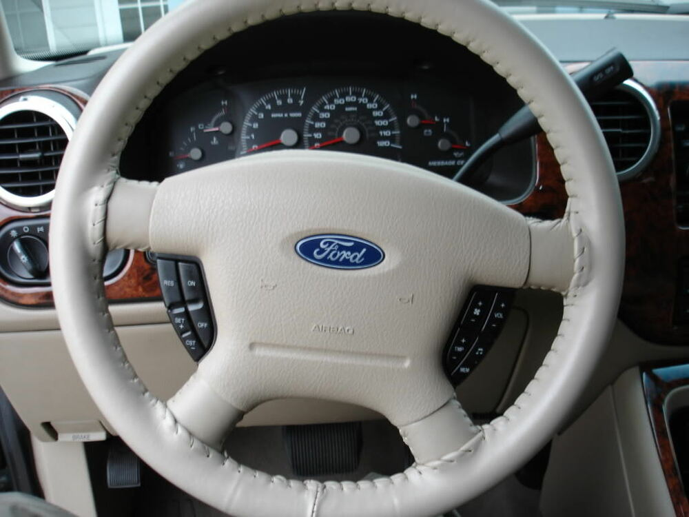 Sand 2004 Ford Expedition Genuine Leather Steering Wheel