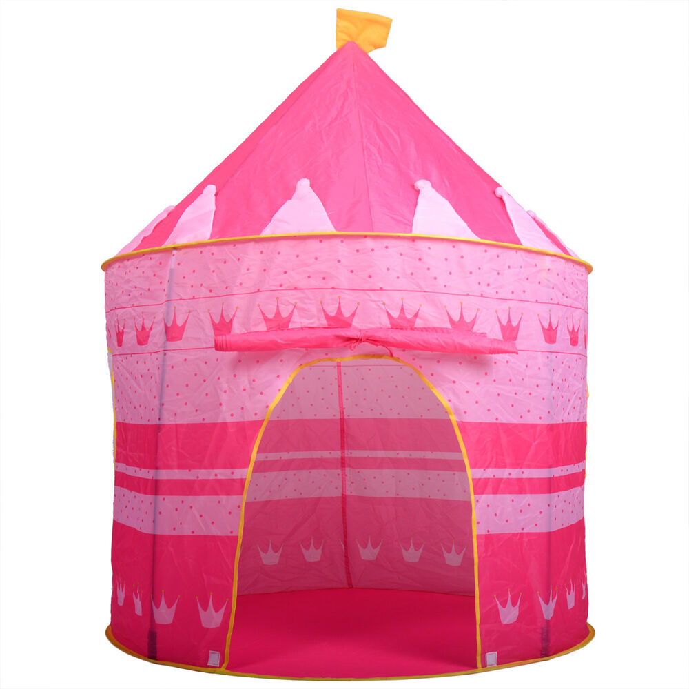 portable pink folding play tent kids girl princess castle. Black Bedroom Furniture Sets. Home Design Ideas
