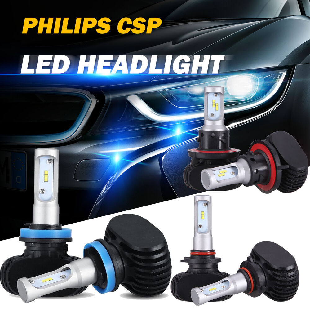 240w 24000lm philips led headlight bulb h4 h13 h7 h8 h9. Black Bedroom Furniture Sets. Home Design Ideas