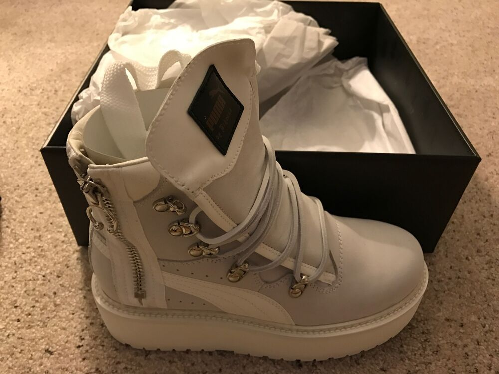 rihanna fenty by puma sneaker boot white ebay. Black Bedroom Furniture Sets. Home Design Ideas