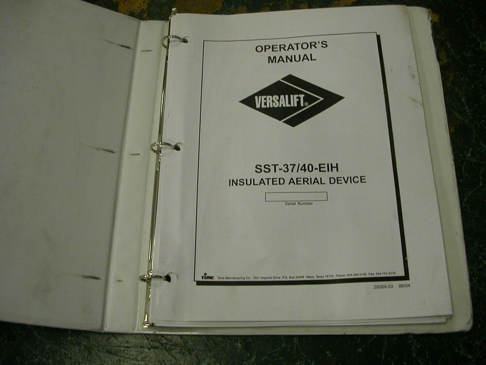 Array - versalift operators manual  rh   llwemsiwx ml