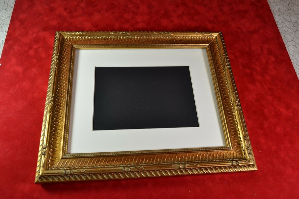Picture Frame 8x10 Or 11x14 Ribbed Antique Gold Picture