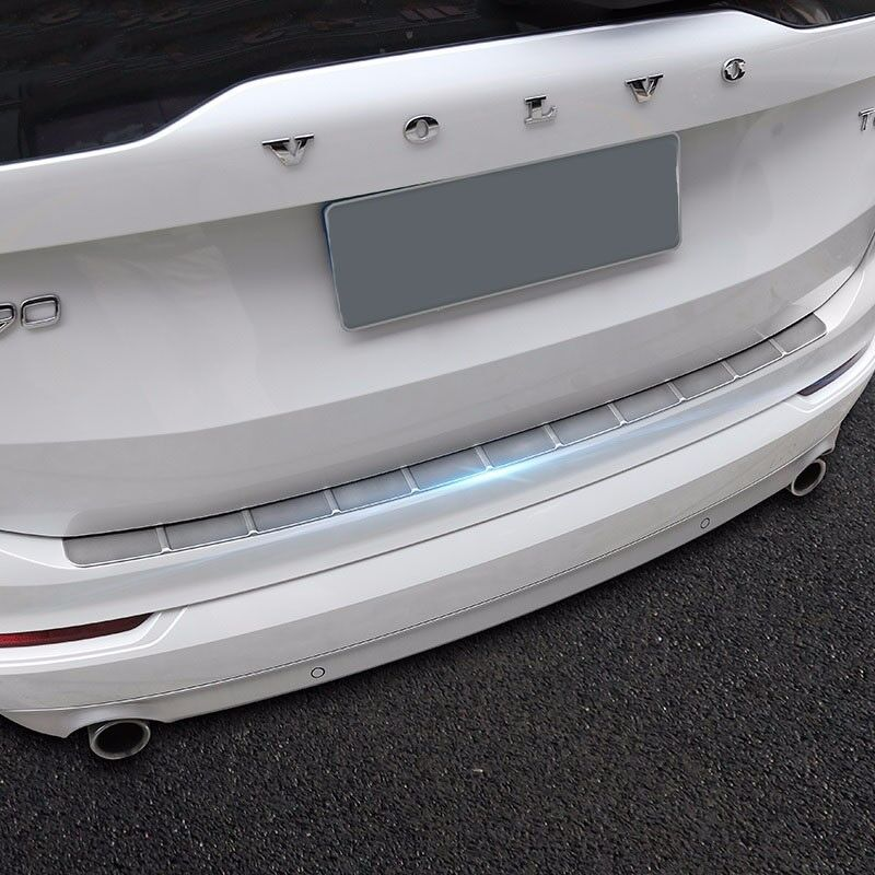 Dog Bumper Guard : Stainless steel rear bumper protector sill plate guard
