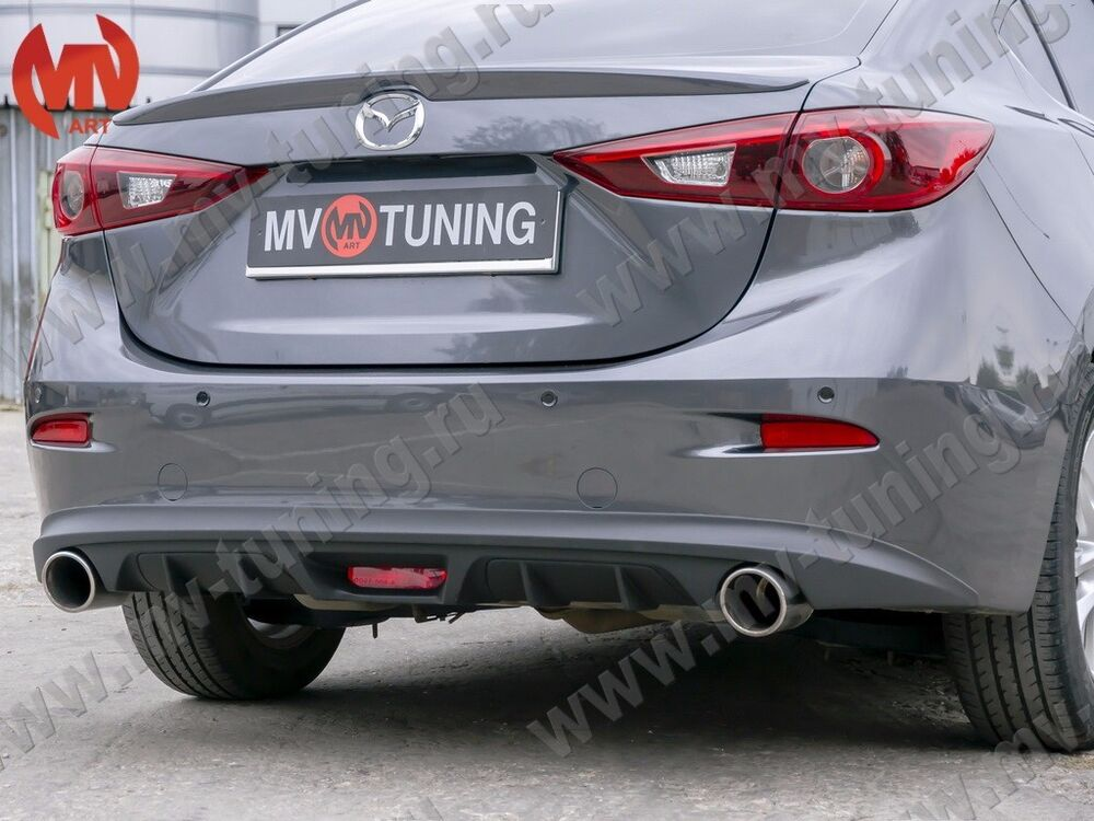 Mazda 3 Axela 2017 >> MV-Tuning Rear Diffuser №2 for Mazda 3 / Axela (3rd generation) sedan 2013-2017 | eBay